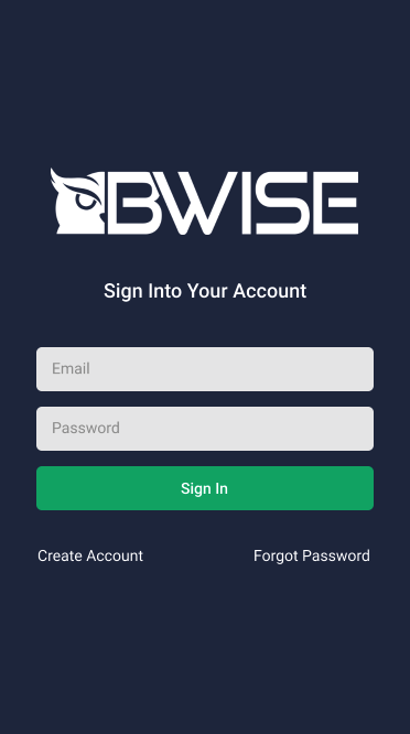 BWISE App Login Screen